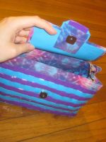 Duck tape hand bag (inside) by recycledrapunzel