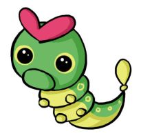 A Wild Caterpie Appears by Capsee