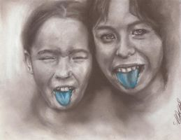 Blue tongues by Blacleria