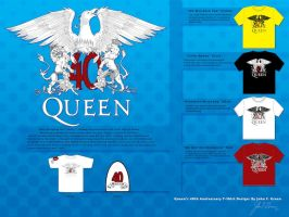 Queen 40th Anniversary Design by Verde13