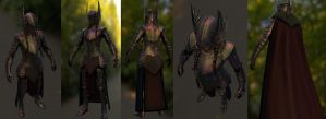 Valkyrie Armor for Skyrim low poly render (WIP) by Zerofrust