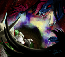 When the light fight with darkness by Weirda208