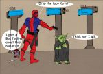 Deadpool and Yoda by LordPaladis