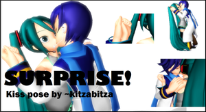 'Surprise' Kiss Pose MMD - Download by kitzabitza
