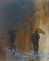 walking in the rain by danielramosruiz