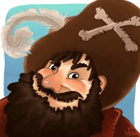 The happy fat pirate by Tacaret