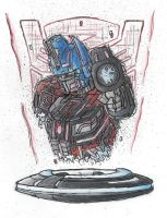 optimus's disc by monkeypoke