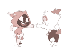 Baton touch by FlowersIMH