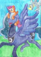 Scoot's Flying Lessons by the-pink-dragon