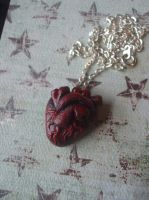 Polymer Clay Anatomical Heart by XxSierraRose