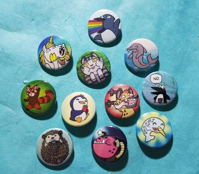 Animal Buttons by SurlyQueen