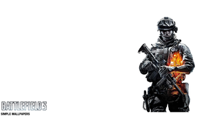 Battlefield 3 Wallpaper Right W/ Logo by SimpleWallpapers