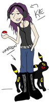 Me + Umbreon by sky-is-gone-out