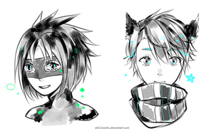 monochrome sketch cm batch by miu-ne