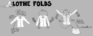 Clothe Folds Tutorial by SugaryAshes
