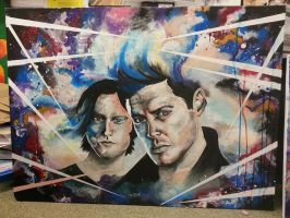 Abstract Sam and Dean Winchester  by OrhideArt