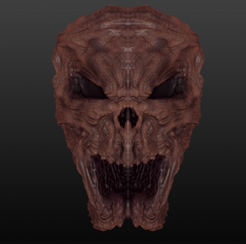 Sculptris #04 More Spooky Demon Skull Thing by TheClawTheySay