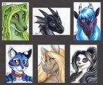 ACEO Color Headshots 3 by ScullyRaptor