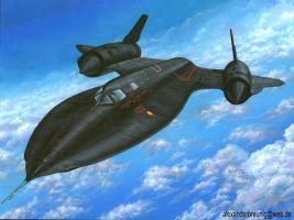 SR-71 Blackbird by bushande
