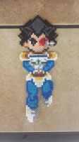 Commission: Custom Vegeta Perler Bead Sprite by MaddogsCreations