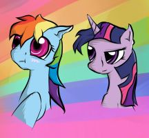 RAINBOWS! BLAAARRRGGG! by sharpieboss