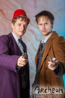 Midwinter Fair 2014 Archeon with Eleventh Doctor 2 by JaccoHeerdt