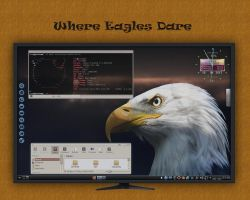 Where Eageles Dare - My KDE Desktop by rvc-2011