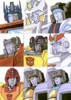 Sketch Cards - Transformers 2 by AJSabino