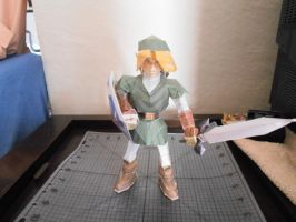 Paper Craft Link front view by ShyArt85