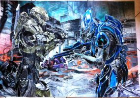 halo 4 Masterchief vs elite covenant COMPLETE!!! by carlolanni