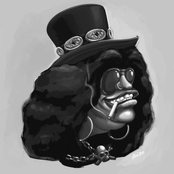 Slash caricature by RockinAiki