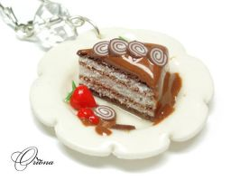 Cake with caramel 2 by OrionaJewelry