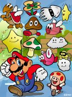 The Characters of Mario Games by g-gomez