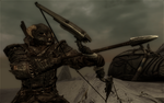 Skyrim - Here's one of your spears back by Alexe-Arts