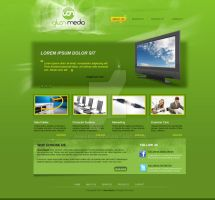 Web Design - Gluon Media by Areeb89
