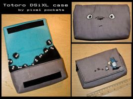 Totoro DSiXL case by eternalrequiem