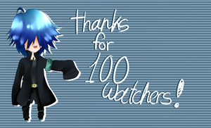 100 Watchers!! by Aoi-chan01