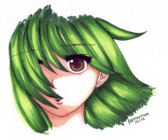 The Girl with the Green Hair by Refinition