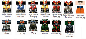Kamen Rider Agito LEGO Decals by Digger318