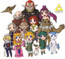 ocarina of time chibis by Daeg-Niht