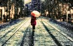 The Girl Walkig In Snow by Asylyx