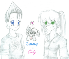 Jimmy and Cindy sketch by brigette