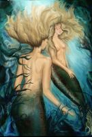 Mermaids digitally reworked by Larainjp