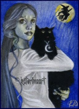 Hallow's Eve - ACEO by Katerina-Art