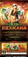 Fiesta Mexicana | Flyer + Facebook Timeline Cover by LouisTwelve-Design