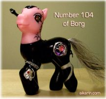 number 104 display side by borgpony