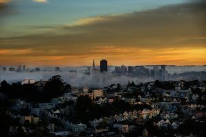 Early Morning San Fransisco CA by designerfied