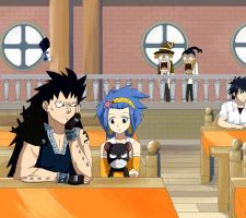 Gajeel and Levy by MoonlitSoulWolf
