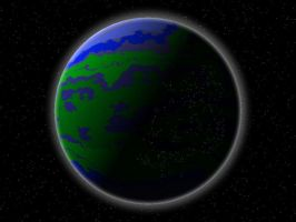 Planet with City Lights by Aristodes