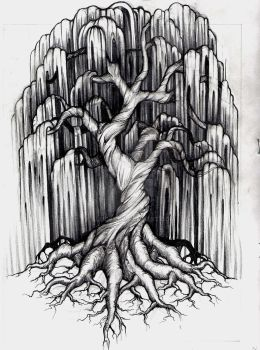 Willow Tree Tattoo by aluc23